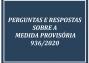 PERGUNTAS E RESPOSTAS MEDIDA PROVISÓRIA 936/2020